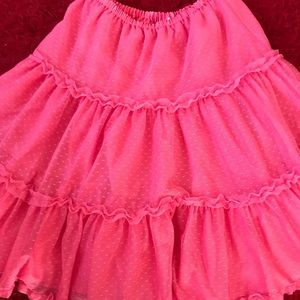 Hanna Andersson pink tulle skirt! Girl's 150/12
